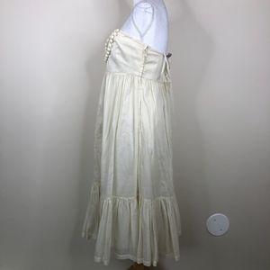 GAP Dresses - GAP Pom Pom Boho Sundress Cream